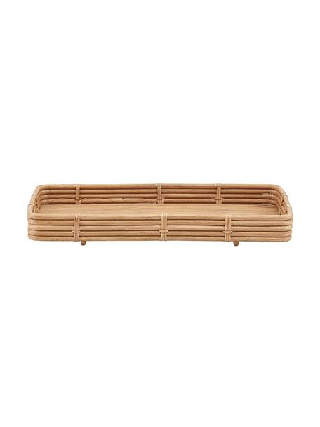 Handgemachtes Rattan-Tablett Orga, L 52 x B 30 cm, Rattan, Rattan, 30 x 52 cm