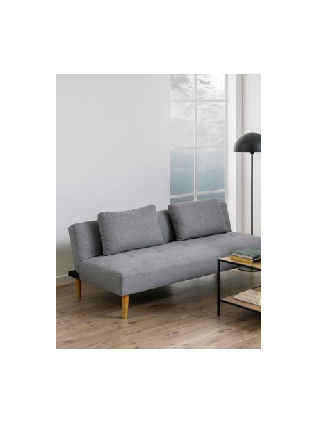 Sofa z funkcją spania Lucca (2-osobowa), Tapicerka: 100% poliester Dzięki tka, Nogi: drewno kauczukowe, Szary, S 180 x G 86 cm
