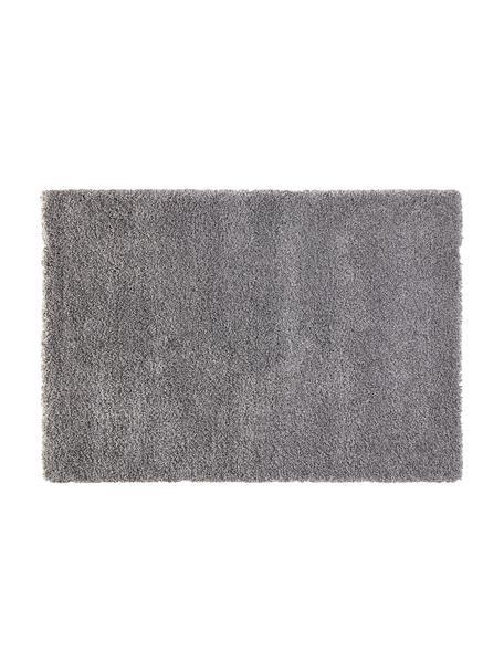 Flauschiger Hochflor-Teppich Venice in Grau, Flor: Polypropylen, Grau, 80 x 150 cm