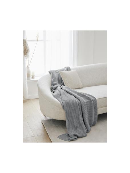 Manta de punto de algodón ecológico Adalyn, 100%algodón ecológico, certificado GOTS, Verde salvia, An 150 x L 200 cm