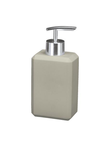 Dosificador de jabón de cemento Loft, Recipiente: cemento, Dosificador: metal, Gris, An 8 x Al 17 cm