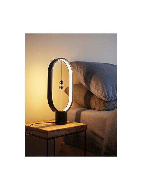 Moderne LED tafellamp Heng, Lamp: kunststof, Diffuser: kunststof, Wit, 20 x 40 cm