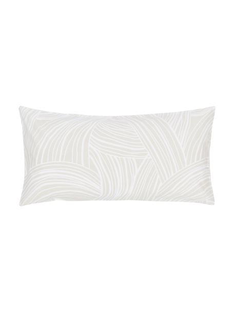 Gemusterte Baumwoll-Kissenbezüge Korey, 2 Stück, Webart: Renforcé Fadendichte 144 , Beige,Weiß, 40 x 80 cm