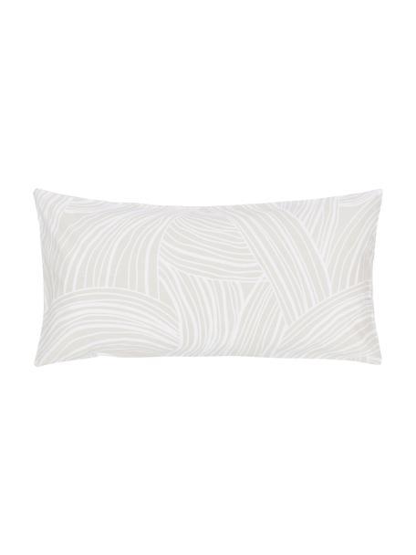 Gemusterte Baumwoll-Kopfkissenbezüge Korey, 2 Stück, Webart: Renforcé Fadendichte 144 , Beige,Weiß, 40 x 80 cm