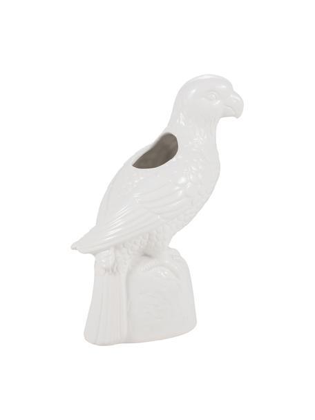Vase Macaw aus Steingut, Steingut, Weiss, 20 x 28 cm