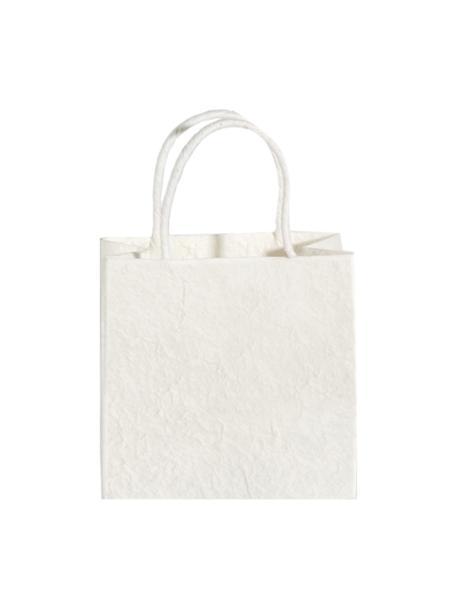 Torba na prezent Will, 3szt., Papier, Biały, odcienie kremowego, S 20 x W 20 cm