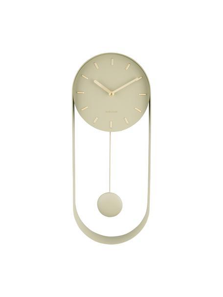 Reloj de pared Charm, Metal recubierto, Beige, An 20 x Al 50 cm