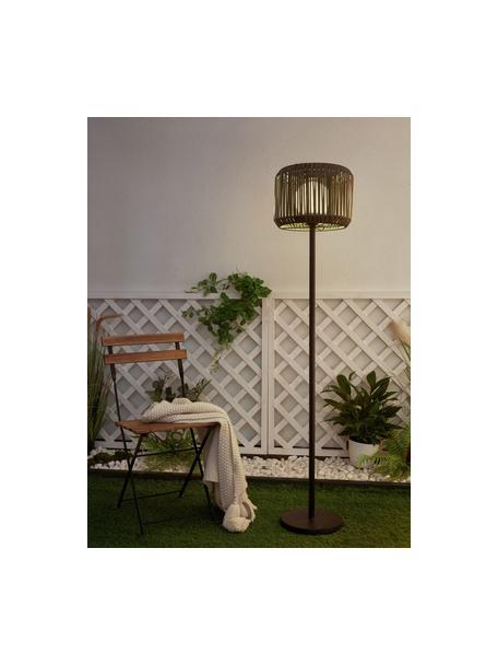Lampada solare da esterno Sunshine Elegance, Paralume: polyrattan, Base della lampada: metallo rivestito, Nero, grigio, Ø 33 x Alt. 148 cm