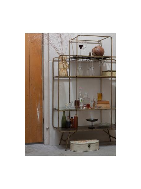Wijnrek Cheers met antieke afwerking, Gelakt metaal, Messingkleurig, 110 x 167 cm
