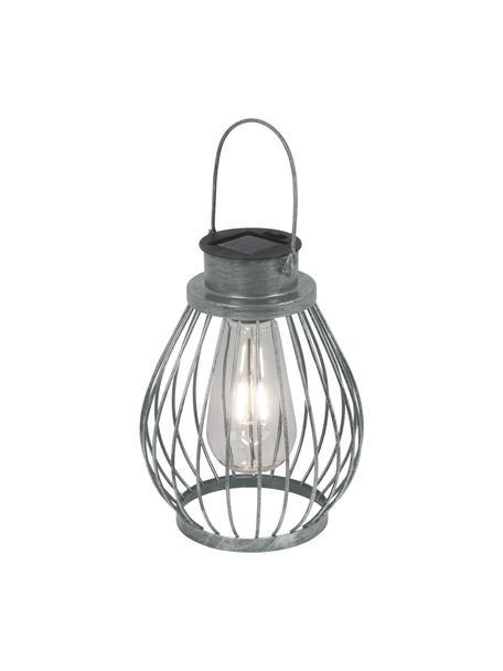 Lampada solare a LED Grid, Struttura: metallo, Paralume: vetro, Metallo, Ø 16 x Alt. 30 cm