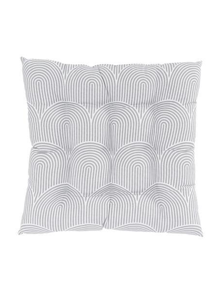 Sitzkissen Arc in Hellgrau/Weiss, Bezug: 100% Baumwolle, Grau, 40 x 40 cm