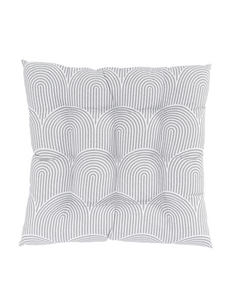 Stoelkussen Arc in lichtgrijs/wit, Grijs, 40 x 40 cm