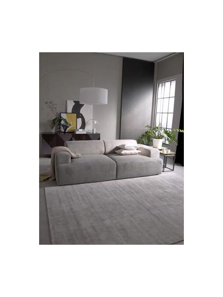 Sofá de pana Melva (3plazas), Tapizado: pana (92%poliéster, 8%p, Estructura: madera de pino maciza, ce, Patas: plástico, Pana gris, An 238 x F 101 cm