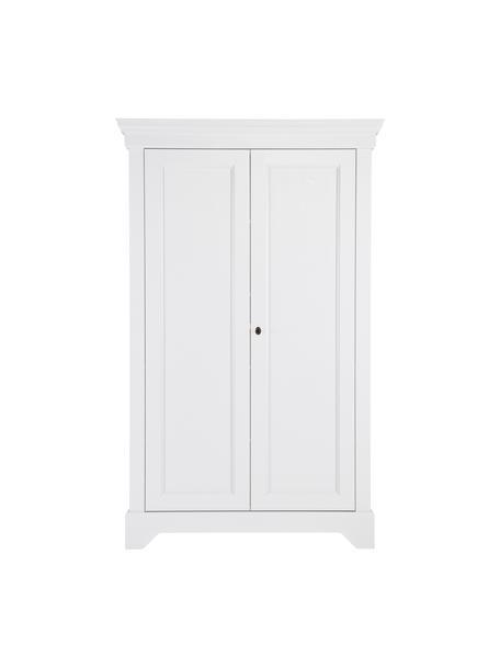 Szafa z drewna sosnowego Isabel, Korpus: drewno sosnowe, lakierowa, Biały, S 118 x W 191 cm