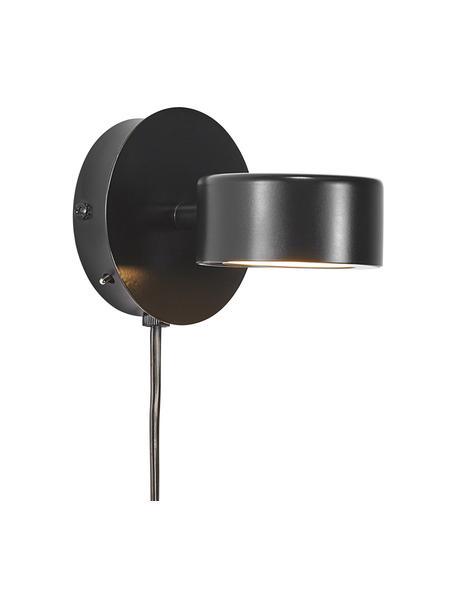 Kinkiet LED z funkcją przyciemniania i wtyczką Clyde, Czarny, S 10 x W 10 cm