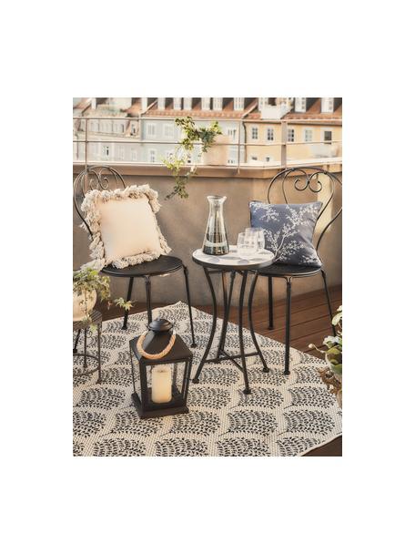 Gemusterter In- & Outdoor-Teppich Stan in Blau/Weiß, 100% Polypropylen, Blau, Weiß, B 80 x L 150 cm (Größe XS)