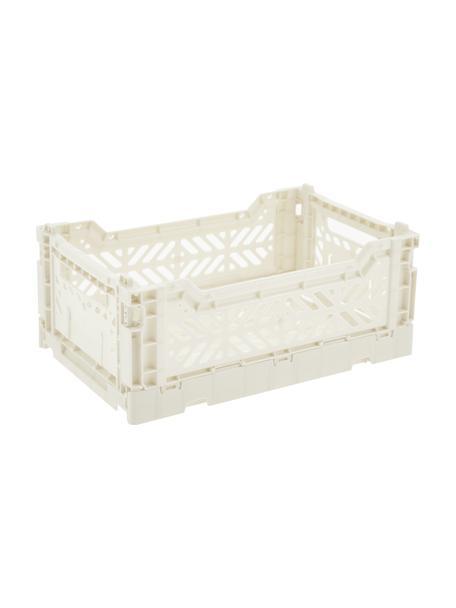Klappbox Coconut Milk, stapelbar, klein, Recycelter Kunststoff, Gebrochenes Weiß, 27 x 11 cm