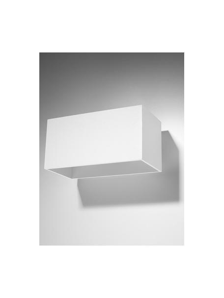 Wandlamp Geo Maxi, Lampenkap: aluminium, Wit, 20 x 10 cm