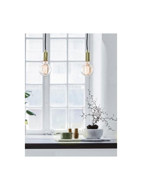 Lámpara de techo Sky, Anclaje: metal latón, Cable: cubierto en tela, Dorado, negro, An 75 x Al 160 cm