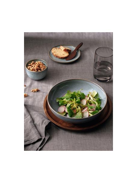 Soepborden Saisons van keramiek in blauw Ø 21, 6 stuks, Keramiek, Blauw, Ø 21 cm