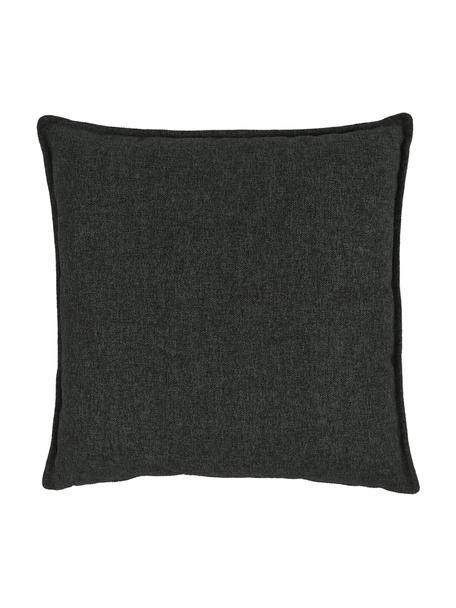 Cuscino arredo antracite Lennon, Rivestimento: 100% poliestere, Antracite, Larg. 60 x Lung. 60 cm