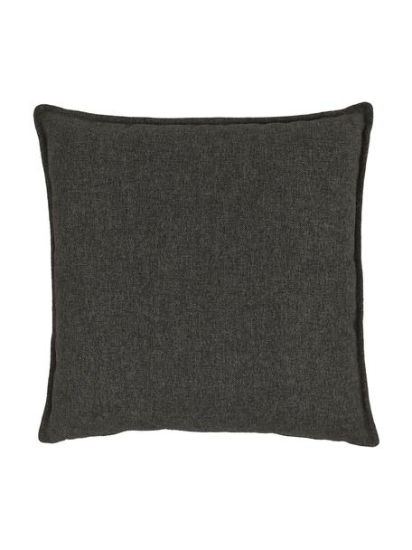 Cojín para sofá Lennon, Tapizado: 100%poliéster, Gris antracita, An 60 x L 60 cm