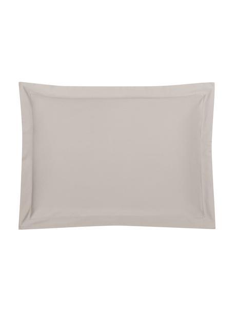 Funda de almohada de satén Premium, 50x70cm, Gris pardo, An 50 x L 70 cm