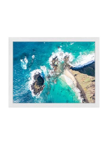 Gerahmter Digitaldruck Malabar Hil, Bild: Digitaldruck auf Papier, , Rahmen: Holz, lackiert, Front: Plexiglas, Mehrfarbig, 43 x 33 cm
