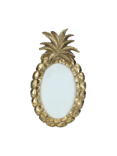 Cornice foto a forma di ananas Tropic, Cornice: resina sintetica, Dorato, 10 x 15 cm