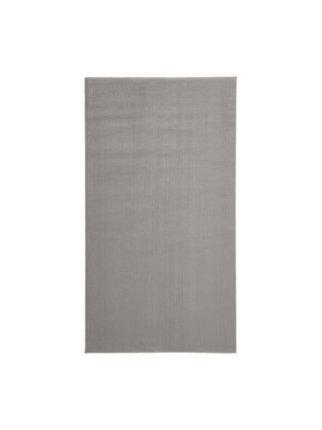 Wollen vloerkleed Ida in grijs, Bovenzijde: 100% wol, Onderzijde: 60% jute, 40% polyester, Grijs, B 60 x L 110 cm (maat XS)