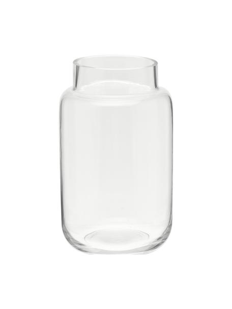 Jarrón grande de vidrio Lasse, Vaso, Transparente, Ø 13 x Al 22 cm