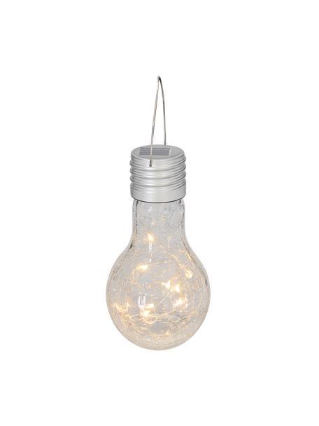 Solarna lampa wisząca Martin, 3 szt., Klosz: transparentny z efektem odłamków Oprawa: nikiel, Ø 10 x W 20 cm