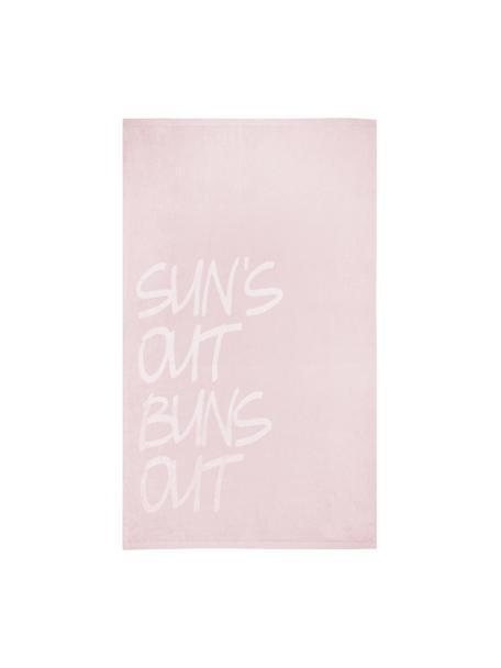 Strandtuch Sun, 100% Baumwolle,  leichte Qualität 420 g/m², Rosa, Weiß, 100 x 170 cm