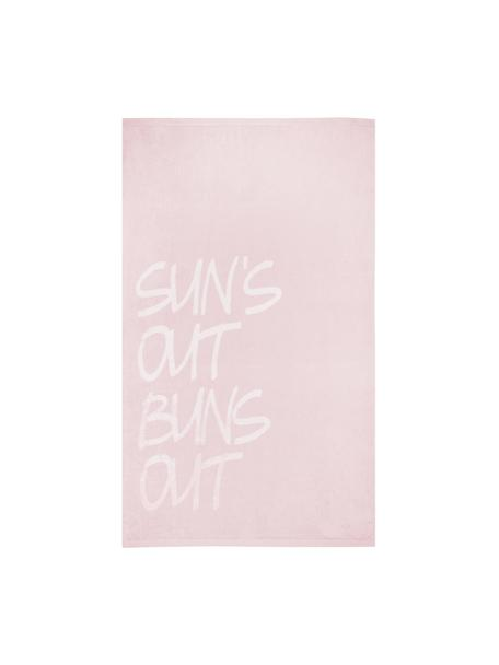 Toalla de playa Sun, Rosa, blanco, An 100 x L 170 cm