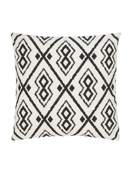 Poszewka na poduszkę w stylu boho Delilah, 100% bawełna, Biały, czarny, S 45 x D 45 cm