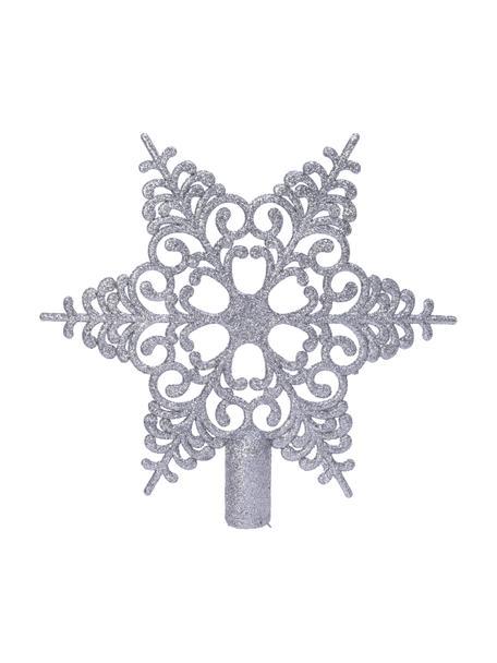 Bruchsichere Weihnachtsbaumspitze Adele Ø 19 cm, Kunststoff, Silberfarben, 21 x 19 cm