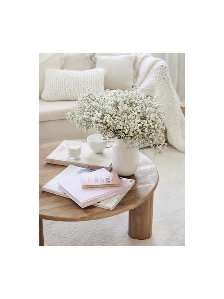 Handgemachte Vase Valeria, Keramik, Weiss, glänzend, Ø 13 x H 20 cm
