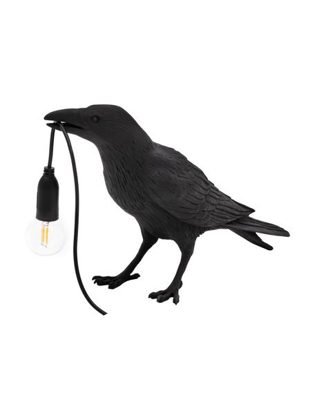 Mała lampa stołowa Bird, Czarny, S 33 x W 12 cm