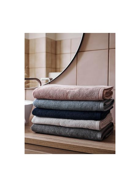 Asciugamano in tinta unita Comfort, diverse misure, Grigio scuro, Asciugamano per ospiti