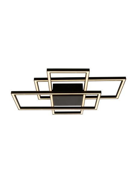 Plafoniera a LED dimmerabile New York, Struttura: metallo rivestito, Nero, Larg. 66 x Alt. 9 cm