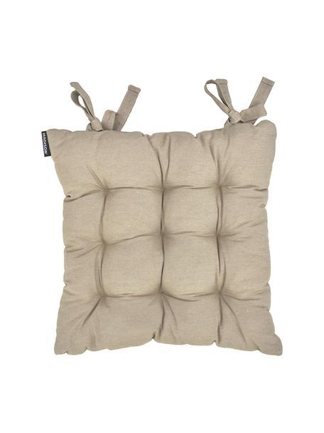 Cojín de asiento Panamá, Tapizado: 50%algodón, 45%poliéste, Interior: tela sin tejer, Arena, An 45 x L 45 cm