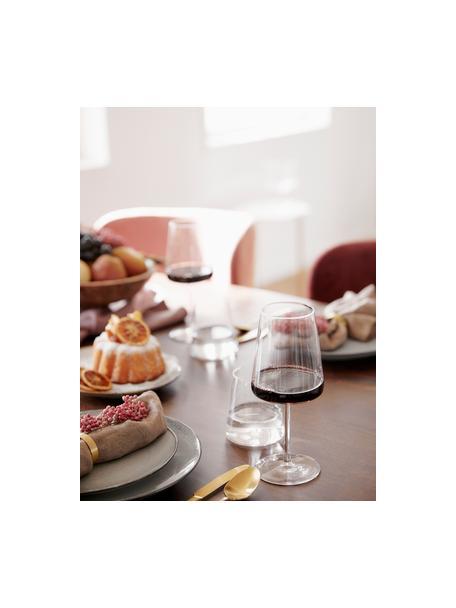 Kieliszek do czerwonego wina ze szkła kryształowego Power, 6 szt., Szkło kryształowe, Transparentny, Ø 9 x W 23 cm
