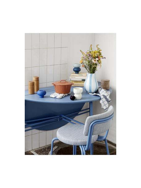 Stapelbare Teelichthalter Agate, 3er-Set, Porzellan, Blautöne, Ø 9 x H 7 cm