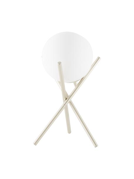 Lámpara de mesa pequeña Erik, Pantalla: vidrio, Cable: plástico, Blanco, champán, Ø 15 x Al 33 cm