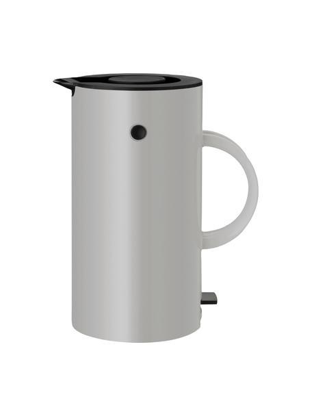 Waterkoker EM77 in glanzend grijs, 1.5 L, Frame: edelstaal, Lichtgrijs, zwart, Ø 13 x H 25 cm