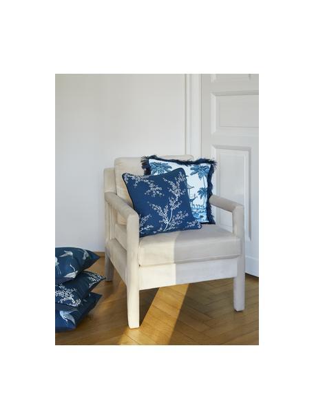 Funda de cojín de algodón Jada, 100%algodón, Azul, An 40 x L 40 cm