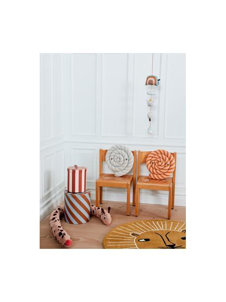 Aufbewahrungsbox Cecila, Karton, Leder, Rot, Creme, Ø 17 x H 20 cm