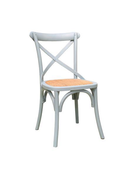 Sedia in legno Jungle, Seduta: rattan, Verde chiaro, Larg. 44 x Prof. 47 cm