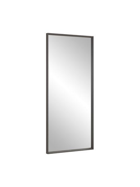 Specchio pendente con cornice in legno Nerina, Cornice: legno, Superficie dello specchio: lastra di vetro, Marrone scuro, Larg. 80 x Alt. 180 cm
