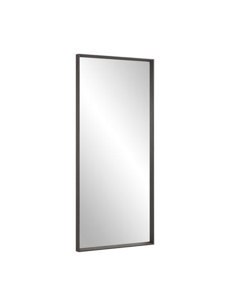Specchio pendente con cornice in legno Nerina, Cornice: legno, Superficie dello specchio: lastra di vetro, Marrone, Larg. 80 x Alt. 180 cm